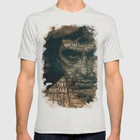 Scarface Mens Fitted Tee Silver SMALL