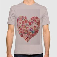 Sending Out A Love Letter - Stamps Mens Fitted Tee Cinder SMALL