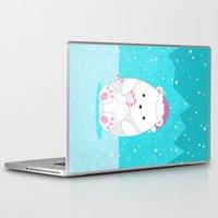 polar bear Laptop & iPad Skins featuring Polar bear by eDrawings38
