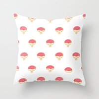 Donuto - Strawberry Topping Throw Pillow