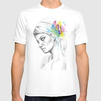 Butterfly Queen Mens Fitted Tee White SMALL