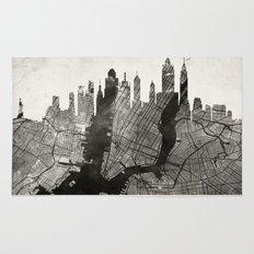 New York Skyline + Map #3 Rug
