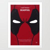 No639 My DeadP minimal movie poster Art Print
