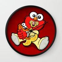 Wall Clock featuring Baby Elmo & Dorothy by BinaryGod.com