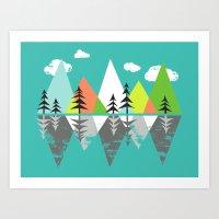 The Crystal Lake Art Print