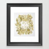 That's Life – Gold On … Framed Art Print