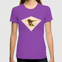 android hummingbird Womens Fitted Tee Ultraviolet SMALL