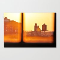 Fire Outside The Window Canvas Print