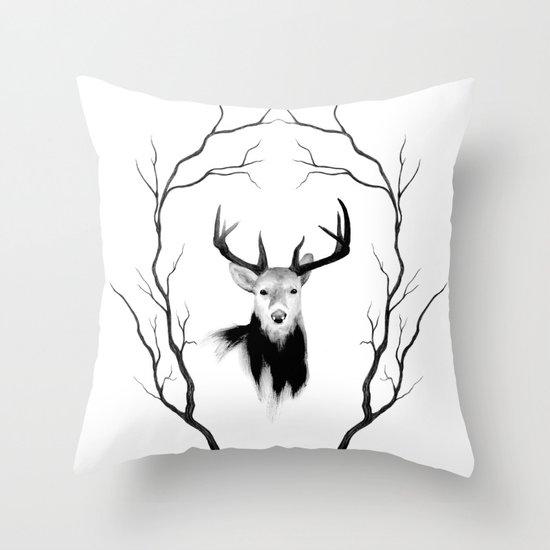 DEER REVISITED Throw Pillow