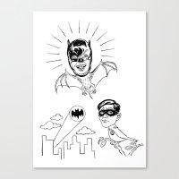 Holy Boastful Bat-man! Canvas Print