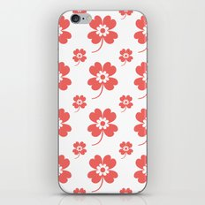 lucky flower coral iPhone & iPod Skin