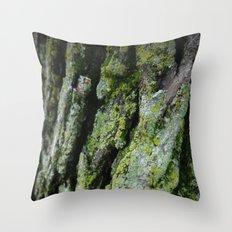 moss, bark Throw Pillow