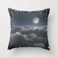 Traveling To The Moon Throw Pillow
