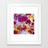 flowers and light Framed Art Print