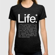 Life.* Available For A L… Womens Fitted Tee Tri-Black LARGE
