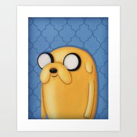 Jake Adventure Time Art Print