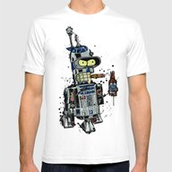 BendR2D2 Mens Fitted Tee White SMALL