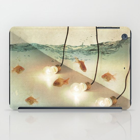 ideas and goldfish iPad Case