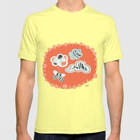 Fluttersky Mens Fitted Tee Lemon SMALL