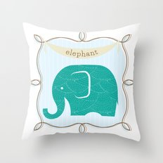 Fun at the Zoo: Elephant Throw Pillow