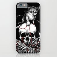 iPhone & iPod Case featuring Kitten Skull by Jeremy hush