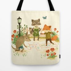 Hopscotch with Critters Tote Bag
