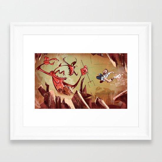 The Devil is a Jerk Framed Art Print