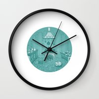 Cat in the kitchen Wall Clock