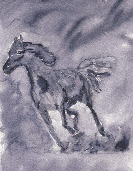Stallion - ink wash Art Print