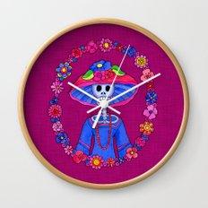 Catrina Doña Adela Wall Clock