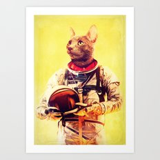 Captain Cat Art Print