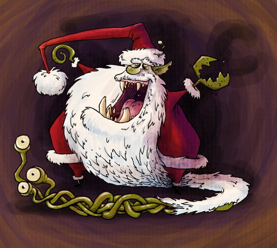 Santa Claws revisited Art Print