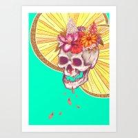 Skull Grave Art Print