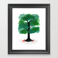 Man & Nature - The Tree … Framed Art Print