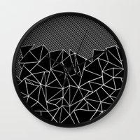 Ab Lines 45 Black Wall Clock