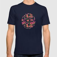April blooms(Bougainvillea_blue) Mens Fitted Tee Navy SMALL