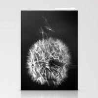 Dandelion In BW Stationery Cards