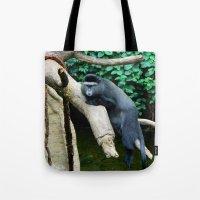 Unimpressed Monkey Tote Bag