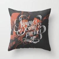 Simmer Down Throw Pillow