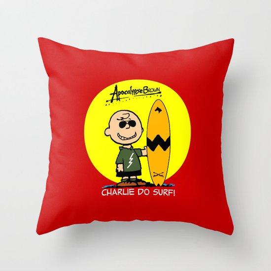 ApocalypseBrown Throw Pillow