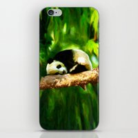 Baby Panda Resting - Painting Style iPhone & iPod Skin