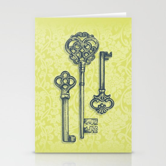Three Skeleton Keys Stationery Card