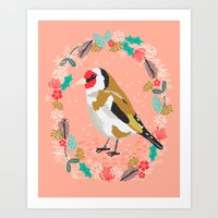 European Goldfinch By An… Art Print