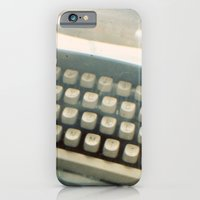 Blue Typewriter TTV iPhone 6 Slim Case