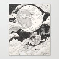 Moon Angel Canvas Print