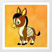 Childhood Donkey Art Print
