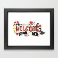 Welcome Framed Art Print