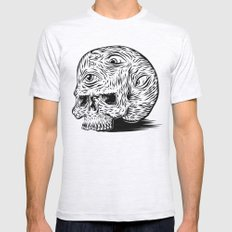 Third-eyed Skull Mens Fitted Tee Ash Grey SMALL