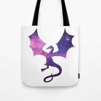 SPACE DRAGON Tote Bag
