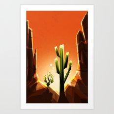A prickly pair in love Art Print